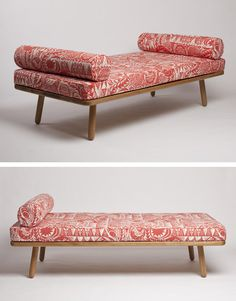 Another Country's Day Bed One, upholstered with Mark Herald's Bird Garden fabric
