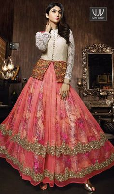 Buy Now @http://goo.gl/e2mKI7 Shilpa Shetty Net Embroidered Work Anarkali Salwar Suit Women beauty is magnified tenfold in this Shilpa Shetty pink net anarkali salwar suit. The brilliant attire creates a dramatic canvas with amazing embroidered and resham work. Comes with matching bottom and dupatta. Product No VJV-KARM7023 @ www.vjvfashions.com #dress #dresses #bollywoodfashion #celebrity #fashions #fashion #indianwedding #wedding #salwarsuit #salwarkameez #indian #ethnics #clothes
