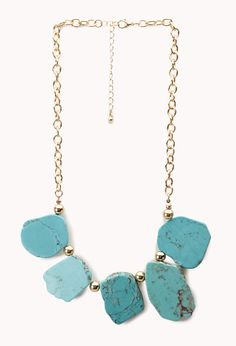 Free Spirit Natural Stone Necklace  Get 4% cash back http://www.studentrate.com/all/get-all-student-deals/Forever21-Student-Discounts--/0