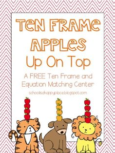 Here's a ten frame and equation matching center for basic facts to 10.