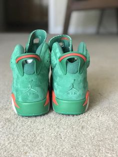 ed969777639 Gatorade Green suede Air Jordan 6 retro * Limited run discount
