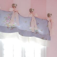 Window valance inspiration cute for little girls room + in hot pink or Tiffany blue or chosen color palette.