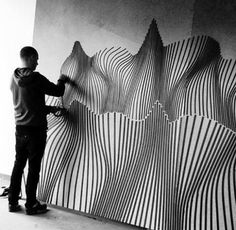 Street Artist Buff Diss Uses Duct Tape and It Looks So Cool : theBERRY