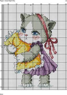 Фотография Cross Stitch For Kids, Cross Stitch Baby, Cross Stitch Animals, Cross Stitch Charts, Cat Cross Stitches, Cross Stitching, Beaded Cross Stitch, Cross Stitch Embroidery, Pixel Crochet
