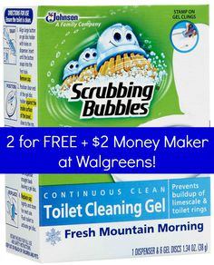 Walgreens: 2 FREE Scrubbing Bubbles Toilet Cleaning Gel + $2 Money Maker!