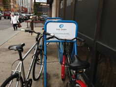 Our bike rack ads are out! Bike Rack, Stationary, Gym Equipment, Bicycle, Ads, Bike, Bicycle Kick, Bike Floor Stand, Bicycles