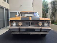 Ford falcon gt xy gtho custom wrecked with patina smashed n crashed ute 1/18 diecast