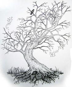 New bonsai tree drawing sketches 48 ideas Tree Sketches, Drawing Sketches, Art Drawings, Tree Drawings Pencil, Drawings Of Trees, Drawing Trees, Christmas Tree Silhouette, Black And White Tree, Tree Tattoo Designs