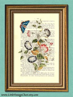 Items similar to MORNING GLORY flowers & butterfly - Wall art - Dictionary art print on Etsy John Lennon Quotes, John Lennon Beatles, The Beatles, Morning Glory Flowers, Butterfly Wall Art, Vintage Medical, Dictionary Art, Ber, Antique Prints