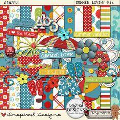 Quality DigiScrap Freebies: Summer Lovin' full kit freebie from Inspired Designs