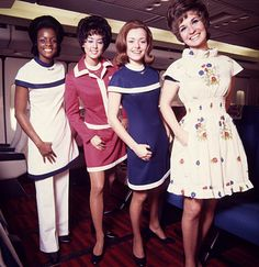 American Airlines Stewardess Uniform Early 1970's