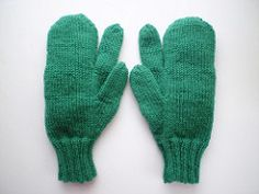 Trigger Mittens byFrankie Brown                                                                Patterns for trigger mittens with a separate forefinger can be found in wartime knitting books. Originally intended to wear while shooting, I find the're also useful if you use a walking stick with a flat handle; these are held with the forefinger in front of the stick and the other three behind and that finger can get very cold!