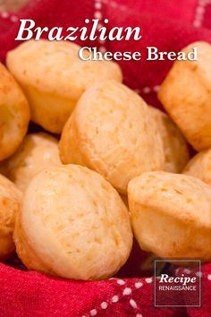 Brazilian Cheese Bread just like they bring to the table at Brazilian steak houses! Quick and easy to make for parties. Brazilian Steak, Brazilian Cheese Bread, Mini Muffins, Appetizers For Party, A Food, Food Processor Recipes, Parties, Vegetarian, Houses