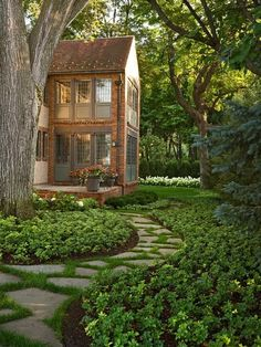 Paths and ground cover, esp around trees, busy areas and shady spots. cottage and vine: Six Ways to Improve Curb Appeal