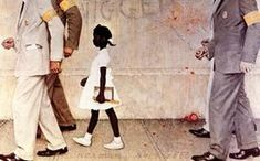 The Problem We All Live With done by Norman Perceval Rockwell is arguably the single most important image ever done of an African-American in illustration history. This piece is the most requested work at the Norman Rockwell museum in. Peintures Norman Rockwell, Norman Rockwell Art, Norman Rockwell Paintings, African American Girl, American Children, Fan Fiction, Black History, Art History, Painting Prints