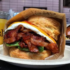 Good morning. Breakfast sandwich by way of LA  @fsadeghin #