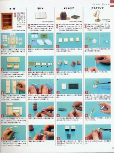 fuckyeahbookarts: DIY: Miniature Book Tutorial (by Cara Bevan) Miniature Crafts, Miniature Houses, Miniature Dolls, Dollhouse Tutorials, Diy Dollhouse, Dollhouse Miniatures, Dolly House, Doll House Plans, Doll House Crafts