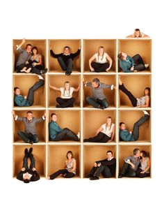 This was made using one cardboard box, and then all the shots were combined - great way to get a cool family picture