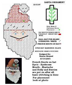 PLASTICS CANVAS NAVIDAD - sonia escaurido - Picasa Web Albums Plastic Canvas Ornaments, Plastic Canvas Christmas, Plastic Canvas Crafts, Plastic Canvas Patterns, Santa Canvas, Santa Ornaments, Stitch Design, Cross Stitching, Holiday Crafts