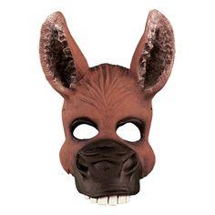 Brown Costume and Eye Masks Animal Halloween Costumes, Halloween Candy, Halloween Masks, Halloween Decorations, Halloween Ideas, Donkey Mask, Half Mask, Prop Making, Animal Masks