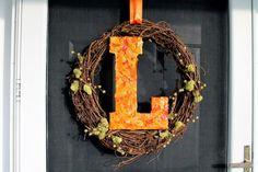 Lombardo Lagniappe: DIY Fall Letter Wreath