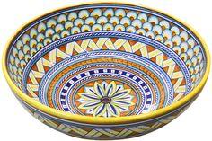 Ceramic Painting, Ceramic Art, Painted Ceramics, Ceramic Bowls, Ceramic Pottery, Panda Bowl, Beautiful Soup, Italian Pottery, Blue Tiles