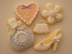 WEDDING COOKIES by Cbonbon cookie, via Flickr