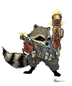 rocket_racoon_david_petersen.jpg 617×739 pixels  Because Rocket Raccoon is AWESOME!