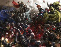 O poster de Vingadores 2: A Era de Ultron, apresentado na Comic Con -  Lançamento 2015