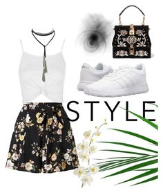 """No title #13"" by aicha-13 on Polyvore featuring mode, Miss Selfridge, Topshop, Dolce&Gabbana, adidas en Pier 1 Imports"