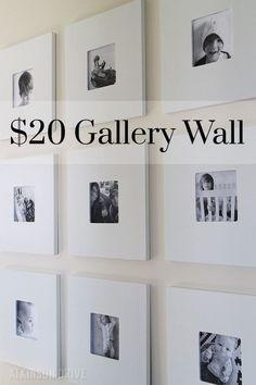 Haz una pared fina de galería por menos de $20. | 25DYI's sencillos y económicos que mejorarán enormemente tu hogar