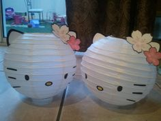 hello kitty paper lanterns! i need these for Haley's room!