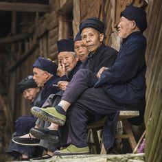Elderly Men at Langde Village