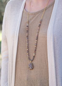 Changing Seasons Necklace by DesignsbyDevraJewels on Etsy