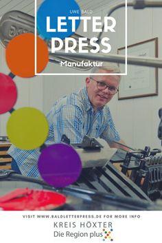 LetterPress aus der Region plus X: Uwe Bald ist Genie im Buchdruck für Glückwunschkarten, Einladungen, Danksagungen etc.