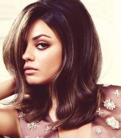 Highlights for dark hair. Just light brown, caramel.