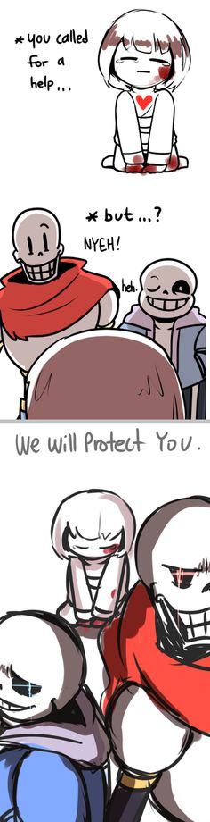 Frisk, Papyrus, and Sans - I wish this happened