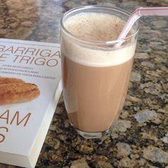 café + creme de leite + leite de coco +canela + stévia