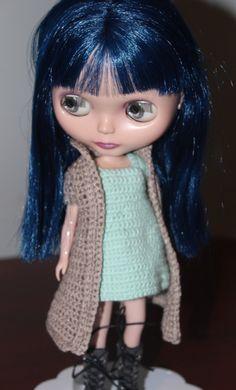 Crochet Pattern Full Jacket for Blythe by Craftynesi on Etsy,