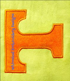 Tennessee Logo Machine Embroidery Applique Design INSTANT DOWNLOAD by Whimsicalembroiderydesigns, $4.00 USD