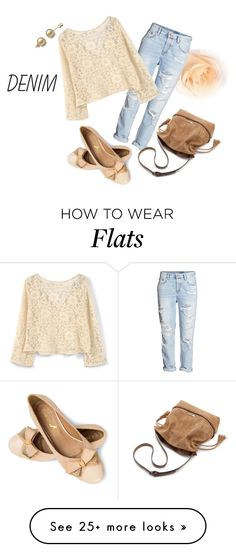 """Spring Denim"" by thaliatria on Polyvore featuring H&M and MANGO"