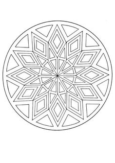 mandalas to print and color | Mandalas for ADVANCED - Mandala with a diamond pattern