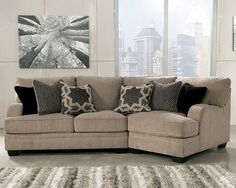 signature design by ashley katisha platinum sectional with right cuddler del sol furniture sofa sectional phoenix glendale tempe scottsdale