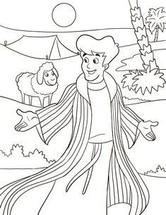 joseph in egypt coloring pages - coloring pages & pictures ... - Bible Story Coloring Pages Joseph