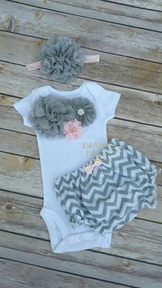 Baby Girl Going Home Outfit/ Newborn Outfit Girl Bodysuit Baby Girl Creeper by BiancaBellaBoutique on Etsy