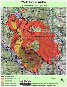 images of waldofire | more detailed look at the progression of the Waldo Canyon Fire via ...