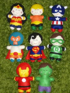 superhero felt dolls these by IndieChicDesigns on Etsy