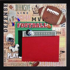 DEFENSIVE LINE Premade Memory Album Page Gallery by theshadowbox