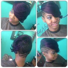 Purple is the NEW blonde Shared by Scissor Happy Chante - http://www.blackhairinformation.com/community/hairstyle-gallery/weaves-extensions/purple-new-blonde-shared-scissor-happy-chante/ #weavesandextentions