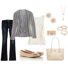 """""""Casual Outfit For the Pear Body Shape"""" by ladylikecharm on Polyvore"""